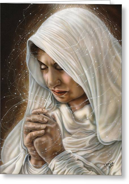 Immaculate Conception - Mothers Joy Greeting Card by Wayne Pruse