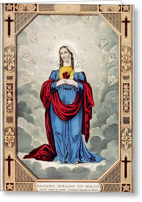 Immaculate Heart Of Mary Greeting Card by Granger