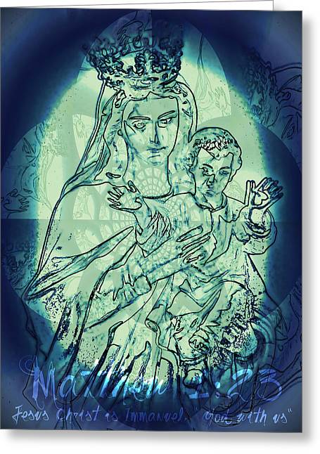 Immanuel God With Us Greeting Card by Sharon Soberon
