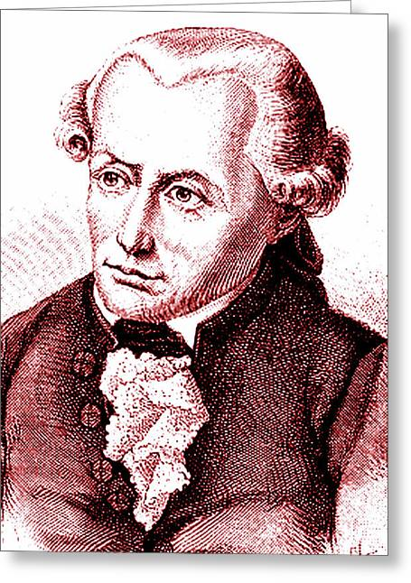 Immanuel Kant Greeting Card by Collection Abecasis