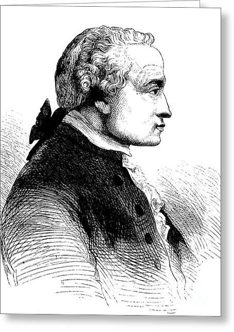 Immanuel Kant, German Philosopher Greeting Card by Bildagentur-online