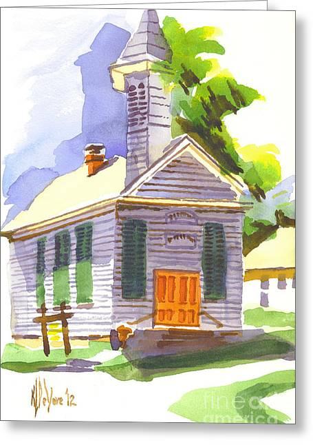 Immanuel Lutheran Church In Springtime Greeting Card by Kip DeVore