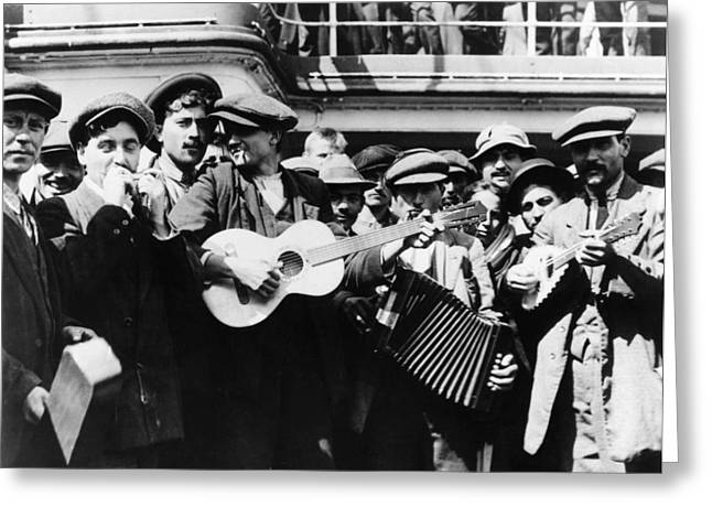 Immigrant Band, C1905 Greeting Card