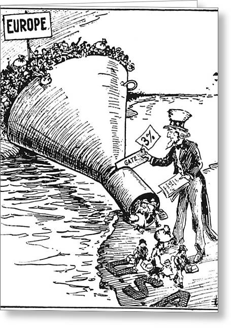 Immigration Cartoon, 1921 Greeting Card