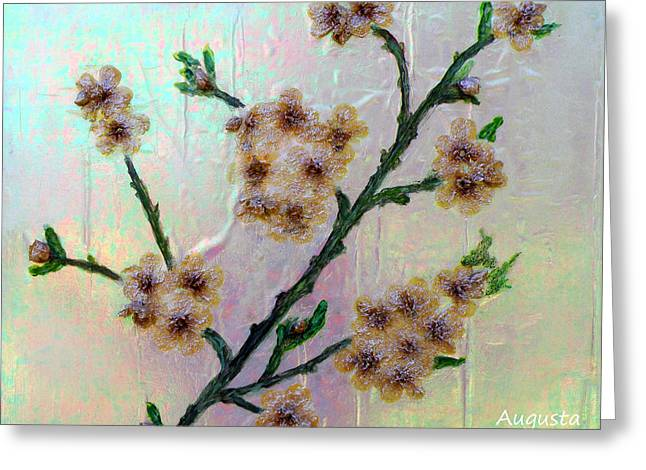 Opalescent Greeting Cards - Immortal Almond  Greeting Card by Augusta Stylianou