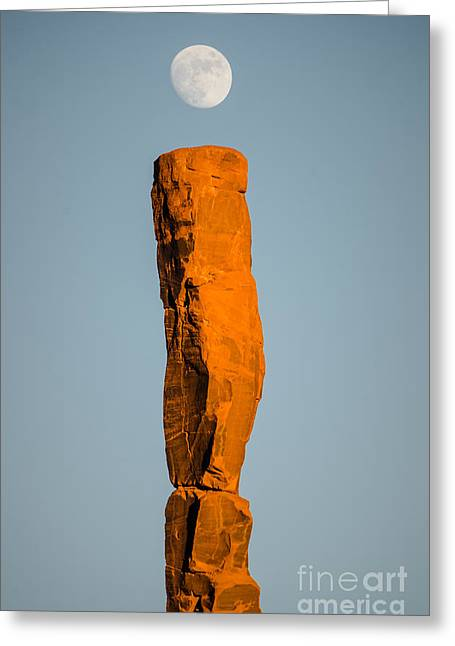 Greeting Card featuring the photograph iMoon by Jeff Kolker
