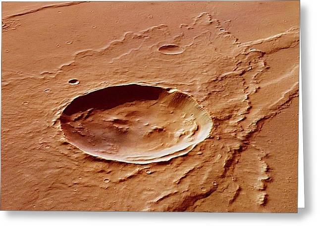 Impact Crater Greeting Card by European Space Agency/dlr/fu Berlin (g. Neukum)