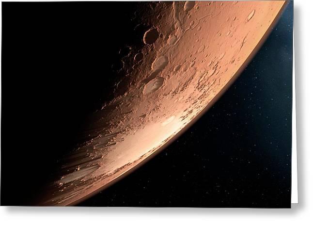 Impact Craters Greeting Card by Detlev Van Ravenswaay
