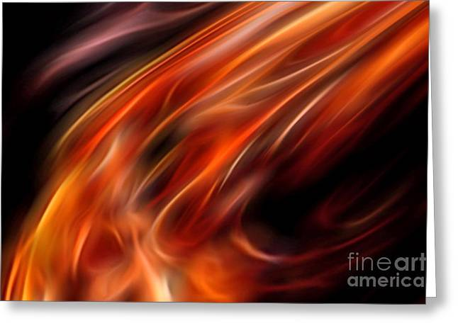 Impassioned Greeting Card by Margie Chapman
