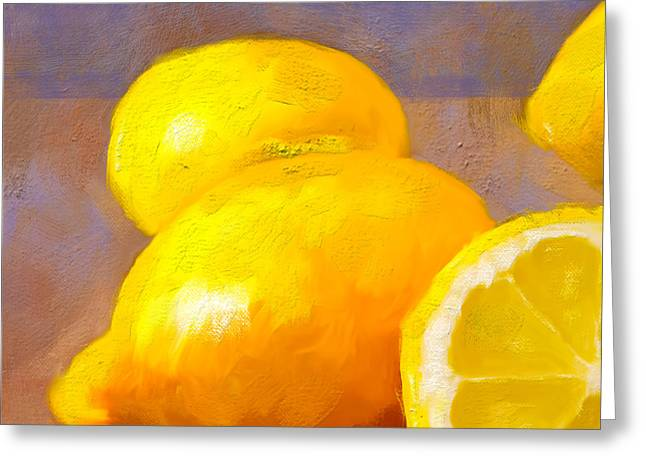 Impasto Lemons Greeting Card
