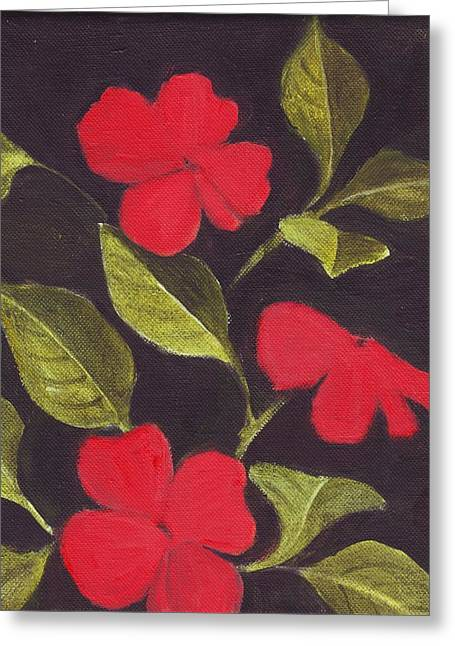 Impatiens Greeting Card by Mary Adam