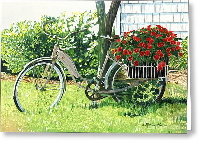 Impatiens To Ride Greeting Card