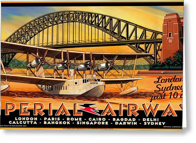 Imperial Airways 2 Greeting Card by Clive Norton
