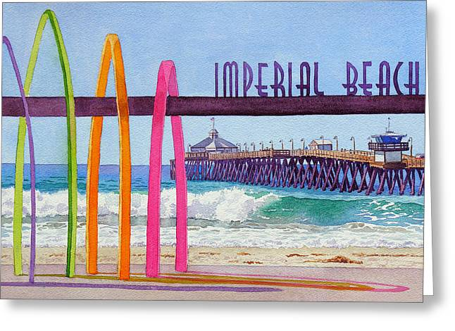 Imperial Beach Pier California Greeting Card