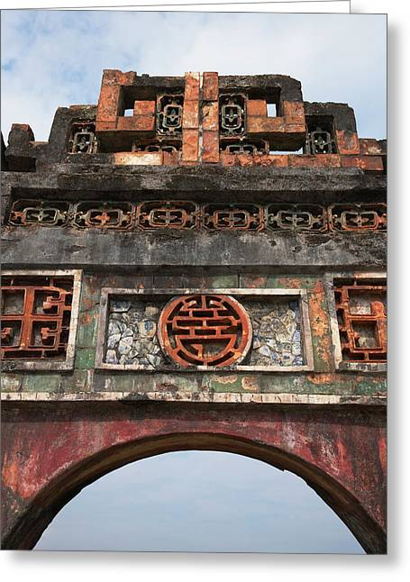 Imperial City Of Hue, Unesco World Greeting Card by Keren Su