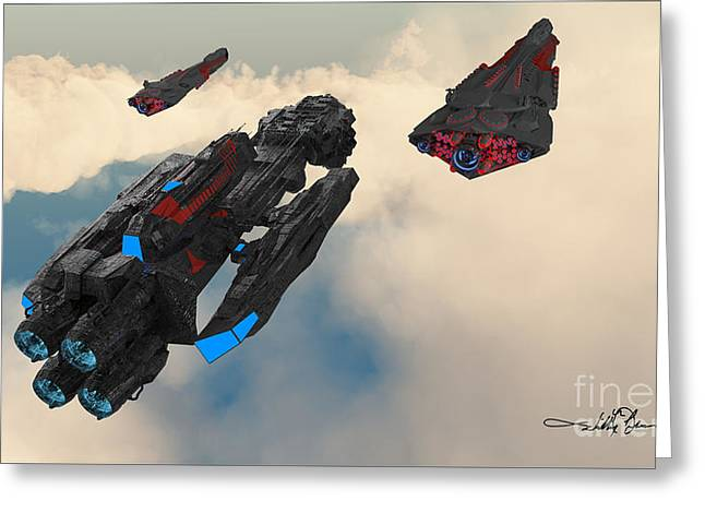 Imperial Fleet Launch Greeting Card