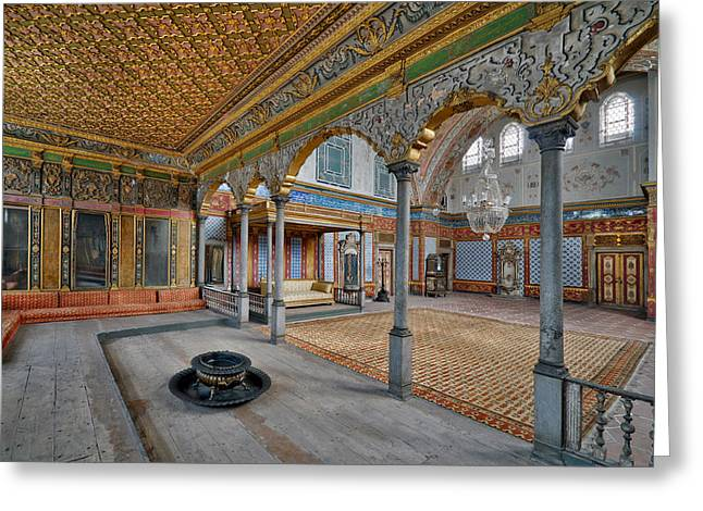 Imperial Hall Of Harem In Topkapi Palace Greeting Card by Ayhan Altun