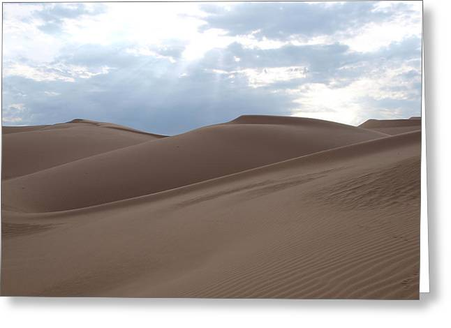 Imperial Sand Dunes Southern California Greeting Card