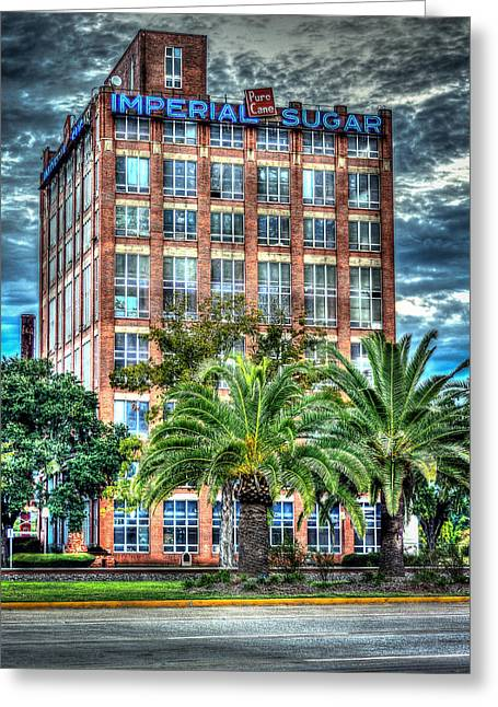 Imperial Sugar Factory Daytime Hdr Greeting Card