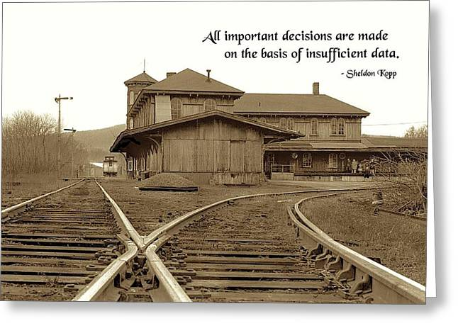 Important Decisions Greeting Card by Mike Flynn