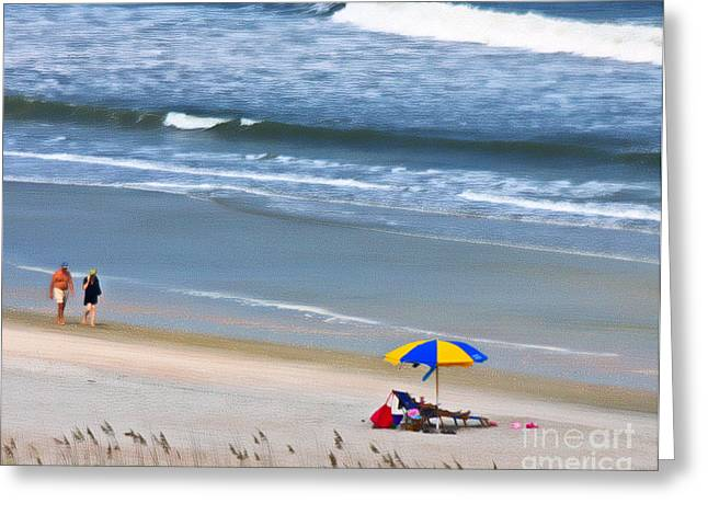Impression Of A Day At The Beach Greeting Card by Dave Bosse