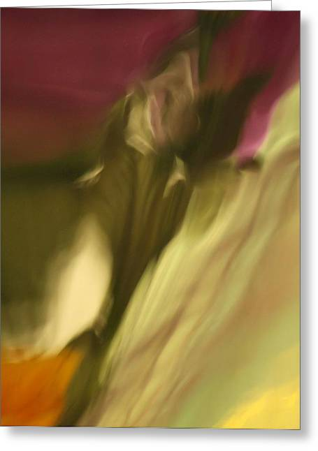 Impression Of A Rose Greeting Card