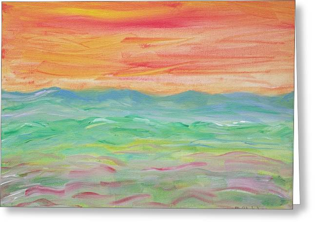 Greeting Card featuring the painting Impression Of Summer by Martin Blakeley