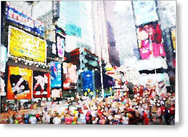 Impression Of Times Square Greeting Card