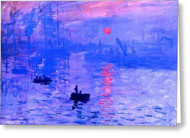 Impression Sunrise Enhanced Greeting Card by L Brown
