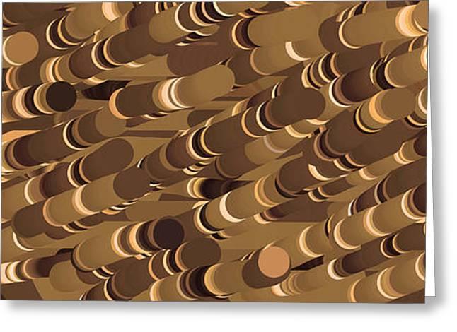 Impressionist Golden Rising Sand Castle Show Pattern Art 36x12 Horizontal Landscape Energy Graphics  Greeting Card