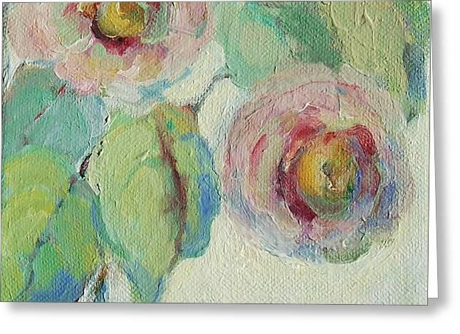 Impressionist Roses  Greeting Card