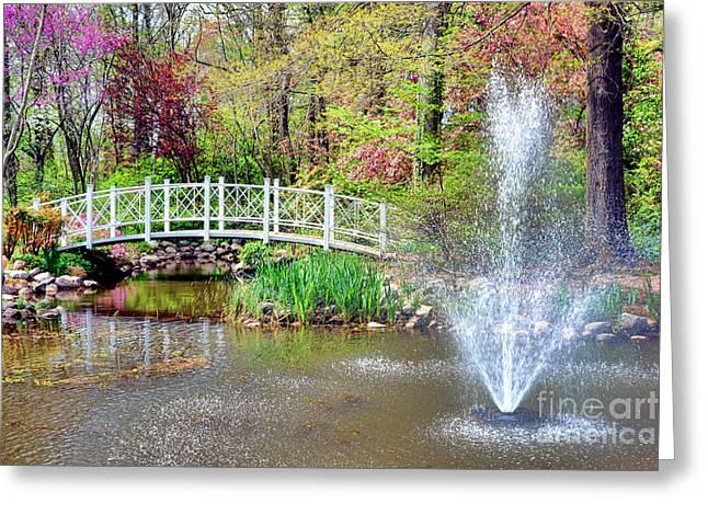 Impressionist Sayen Garden Greeting Card