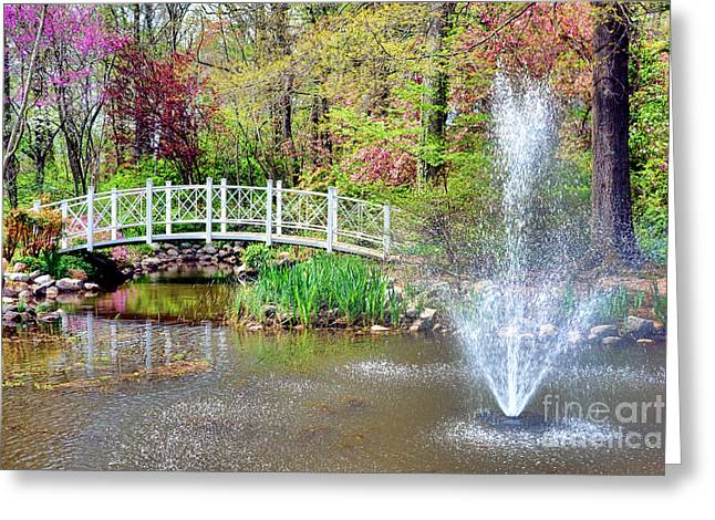 Impressionist Sayen Garden Greeting Card by Olivier Le Queinec