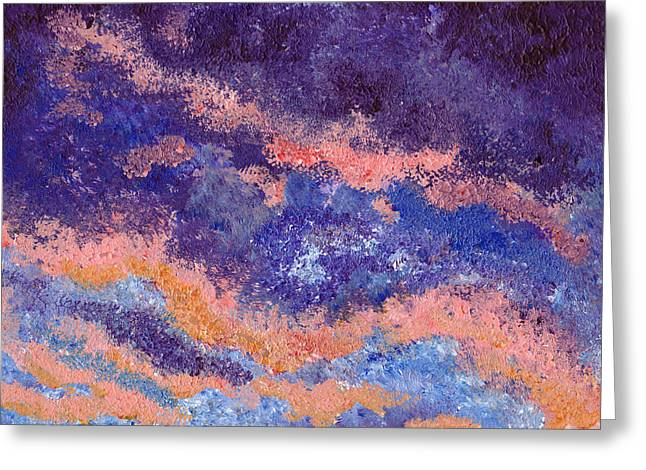 Impressionist Sunset Greeting Card by Tricia Griffith
