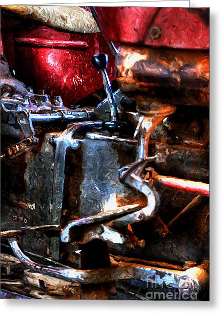 Rotten Old Farm Tractor Greeting Card