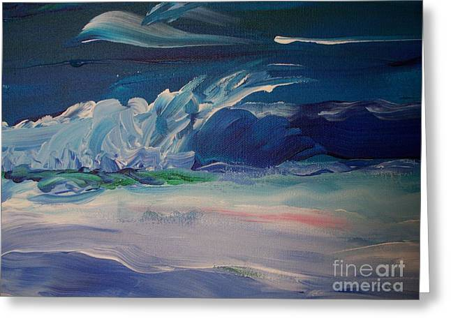 Impressionistic Abstract Wave Greeting Card by Eric  Schiabor