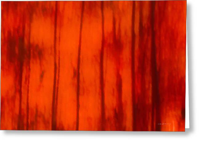 Impressionistic Autumn 4 Greeting Card by Leland D Howard
