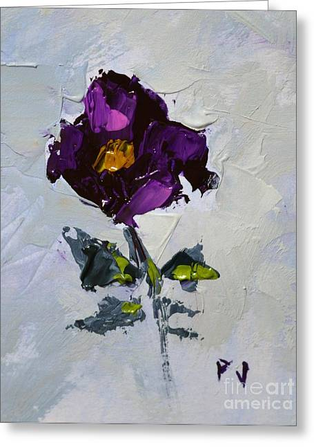The Lord Is My Light And My Salvation - Psalm 27 1 A- Impressionist Floral Painting Of Petunia Greeting Card by Philip Jones
