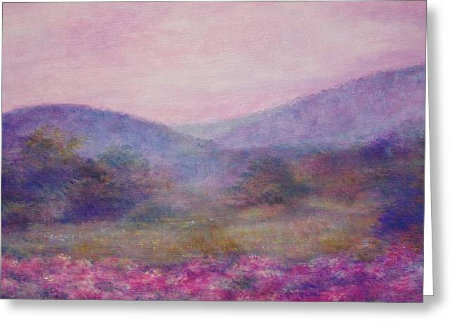 Impressionistic Foggy Summer Morning  Greeting Card