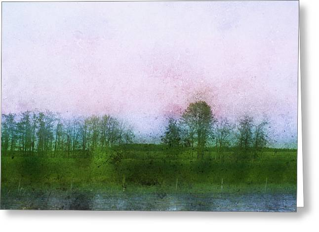 Impressionistic Style Of Trees Greeting Card by Roberta Murray