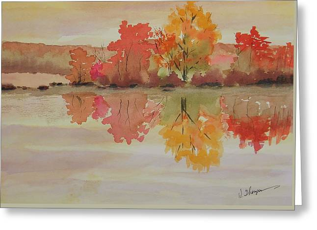 Impressions Of Fall Greeting Card by Warren Thompson