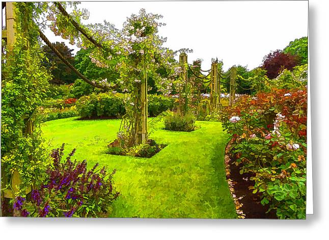 Impressions Of London - Queen Mary's Garden At Regent's Royal Park Greeting Card