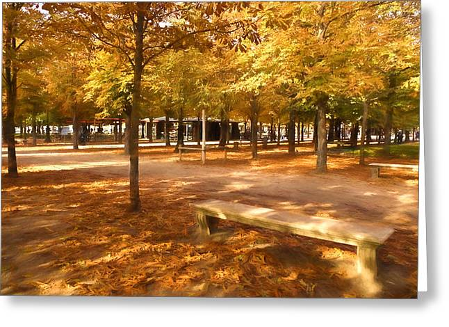 Impressions Of Paris - Tuileries Garden - Come Sit A Spell Greeting Card