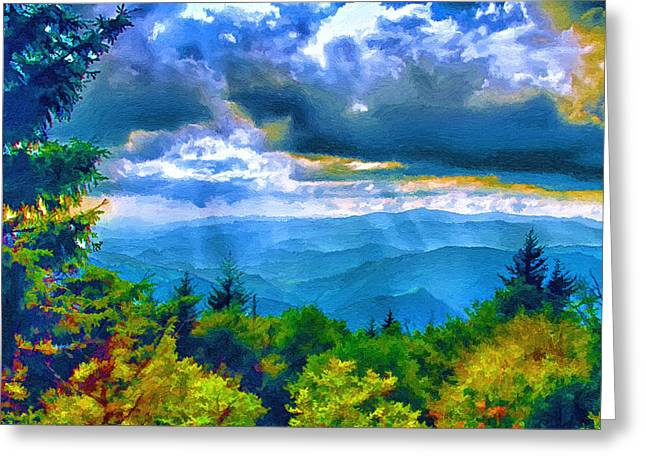 Impressions Of Waterrock Knob On The Blue Ridge Parkway Greeting Card