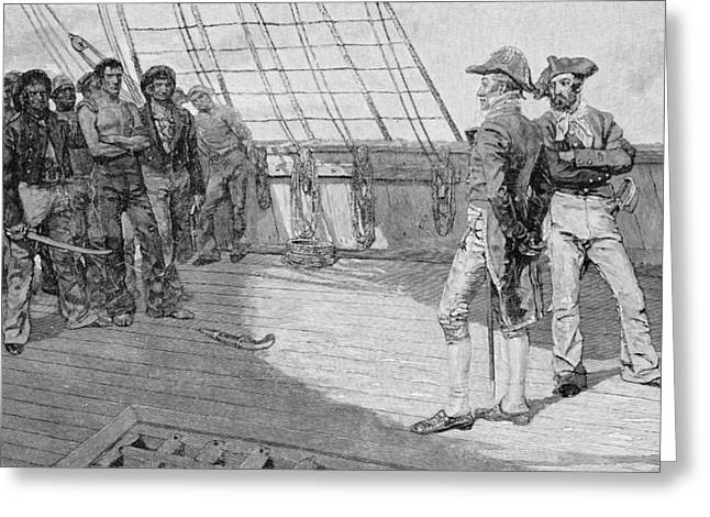 Impressment Of American Seamen, Illustration From Our Countrys Cradle By Thomas Wentworth Greeting Card