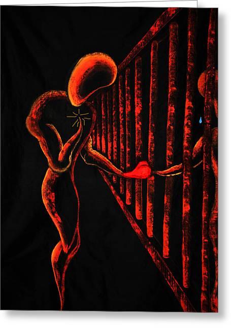 Imprisoned Love Greeting Card