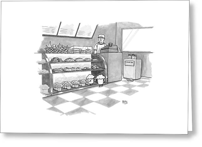 In A Bakery Greeting Card