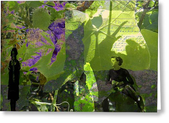 Greeting Card featuring the digital art In A Dream by Cathy Anderson