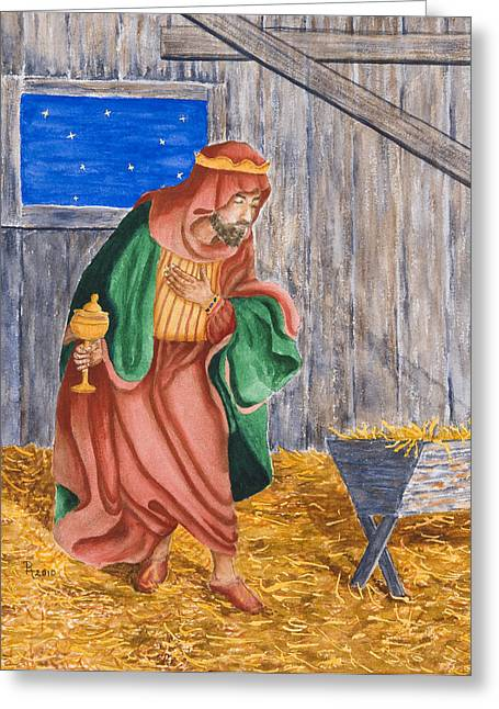 In A Manger Greeting Card