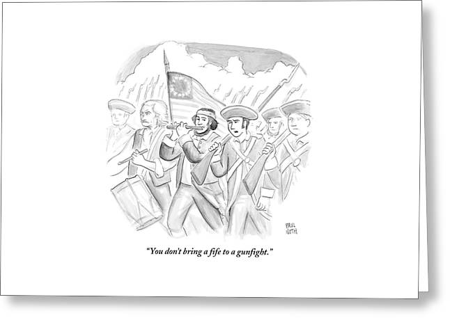 In A Military March Greeting Card
